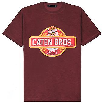 Dsquared2 カテンブラザーズ ロゴ Tシャツ