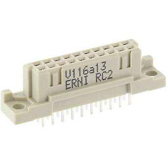 ERNI 254370 Edge connector (sockets) Total number of pins 20 No. of rows 2 1 pc(s)