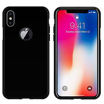 iPhone X and Xs Silicone Black Case - CoolSkin