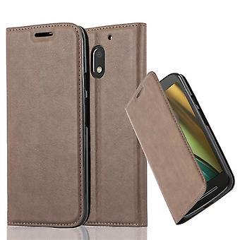 Cadorabo Housse pour Motorola MOTO E3 coque case cover - Coque pour téléphone portable avec fermeture magnétique, fonction de stand et compartiment à cartes - Case Cover Étui Sac de poche Style plié