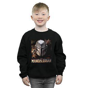 Star Wars jongens de Mandalorian helm Sweatshirt