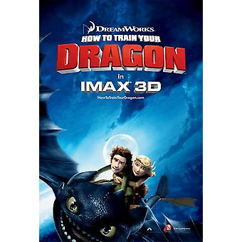 How To Train Your Dragon Poster (Imax) - Double Sided Advance Imax Us One Sheet (2010) Original Cinema Poster