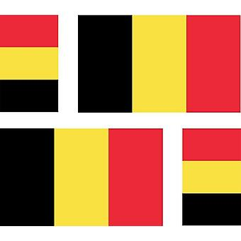 4 X klistermærke mærkat bil Moto Ref2 Belgien flag Belgien Belgien