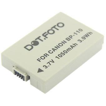 Dot.Foto Canon BP-110 Replacement Battery - 3.7v / 1050mAh