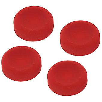 Concave weiche Silikon Daumengriffe für sony ps4 Controller analogsticks - 4 pack rot