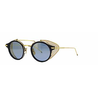 Thom Browne TB804 B Navy-18K Gold/Dark Blue Sunglasses