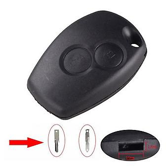 Renault Duster Dacia 2 button remote key case 2.5/9.5 hole