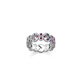 Thomas Sabo Sterling Silver Thomas Sabo Royalty Colourful Strength Ring TR2146-322-7