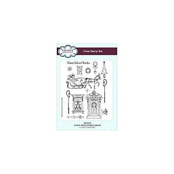 Expressions créatives Noël Homecoming A5 Clear Stamp Set