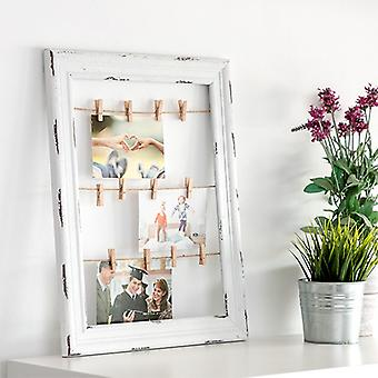 Wooden frame for Photos and Notes ropes and clamps (38 x 48 cm)