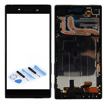 Sony LCD complète unité avec cadre d'affichage pour Xperia Z5 E6603 E6653 noir