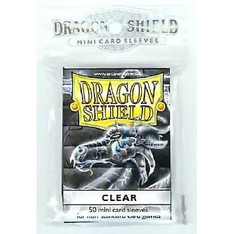 Dragon Shield 50ct. in bag Japanese size - Clear (Pack of 10)