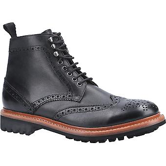 Cotswold Herre Rissington Commando Goodyear Welt Lace Up Boot Black