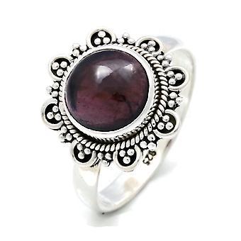 Ring Silber 925 Sterlingsilber Granat rot Stein (Nr: MRI 120)