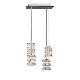 Cubicus 4 Mini Pendant Lighting Chrome