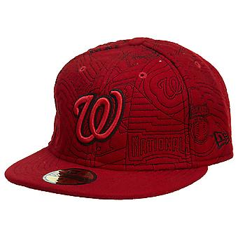 New Era Washington Nationals Fitted Hat Mens Style : Hat549