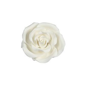 SugarSoft syötävä kukka-ruusu valkoinen 63mm-laatikko 8