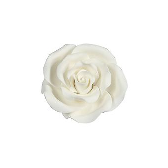 SugarSoft Flor comestible - Blanco rosa 63mm - Caja de 8