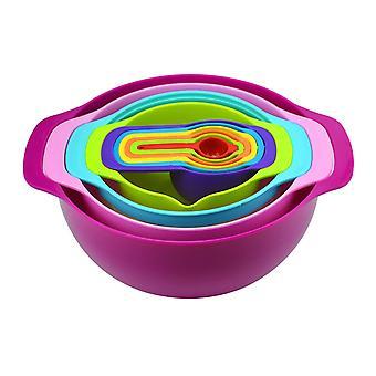Rainbow Bowl 10Pcs Baking Tools Set