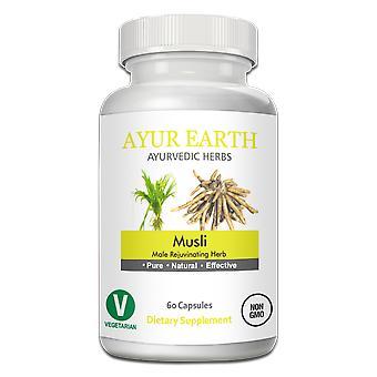 Ayur Earth Safed Musli Cholophytum Borivilianum Ayurvedic Herb