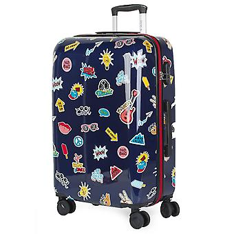 Children's Suitcase Youth Trolley 64 Cm Medium Size Of Itaca Signature Printed Polycarbonate