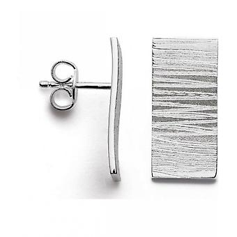 bastian inverun - 925/- silver stud earrings, matted/ brushed - 24360