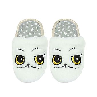 Harry Potter Hedwig Uil Witte Pluche Girl's Slip-On Mule Slippers