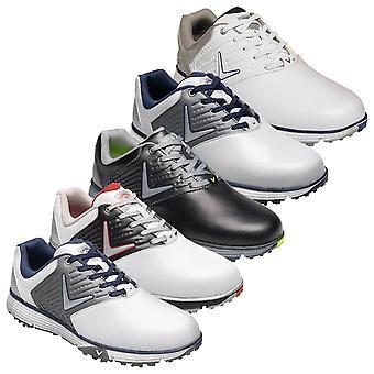 Callaway Golf Mens 2020 Chev Mulligan Waterproof Leather Golf Shoes