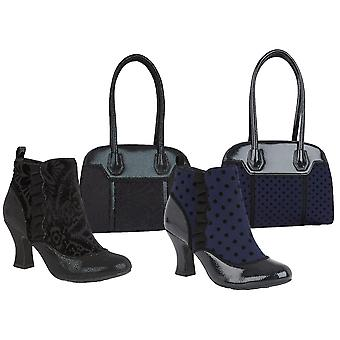 Ruby Shoo Women's Antoinette High Heel Boots & Matching Montpellier Bag