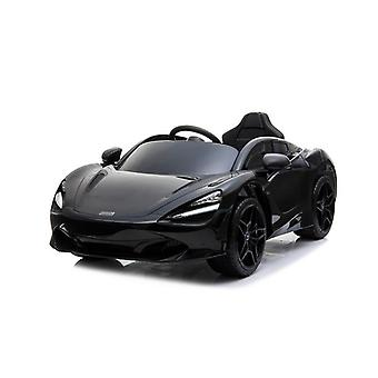 Licensed McLaren 720S 12V Electric Ride on Car With Leather Seat Black