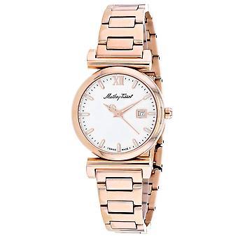 Mathey Tissot Mujeres's Reloj de marcación blanca - D410PI