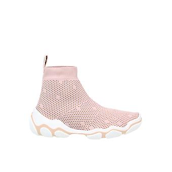 Tênis Top Red Valentino Tq2s0c14ujl11n Femininoe:s Pink Fabric Hi Top Sneakers