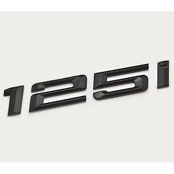 Matt Black BMW 125i Car Model Rear Boot Number Letter Sticker Decal Badge Emblem For 1 Series E81 E82 E87 E88 F20 F21 F52 F40