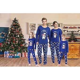 Hupohoi famiglia abbinamento pajama imposta carino orso polare Sleepwear, Blu, Taglia 8.0