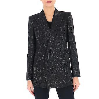 Saint Laurent 582596y81v1081 Women's Black Viscose Blazer
