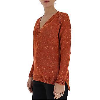 Gentry Portofino D649gtg3030 Women's Brown Cotton Sweater