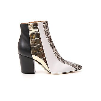 Sergio Rossi A87281mfn7939559 Women's Black/gold Leather Ankle Boots