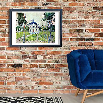 Vincent Van Gogh - Auvers Ratusz w 14 lipca 1890 plakat Giclee druku