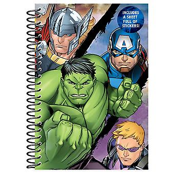 Marvel Avengers A5 Soft Cover Spiral Bound Notebook