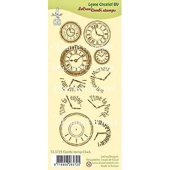 Leane Creatief Clock Clear Stamp