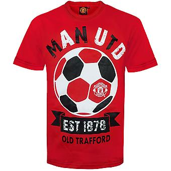 Manchester United FC Official Football Gift Infants Grafisch T-shirt Rood