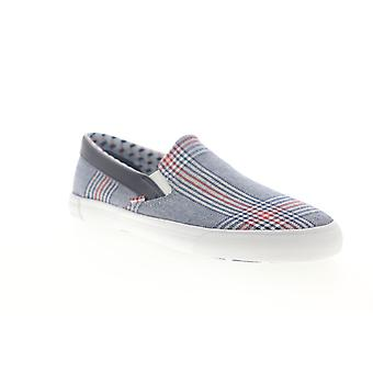 Ben Sherman Percy Slip On  Mens Blue Canvas Low Top Sneakers Shoes