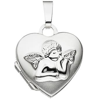 ميدالية الأطفال قلب الملاك الحارس الملاك ل2 صور 925 ميدالية الأطفال الفضية