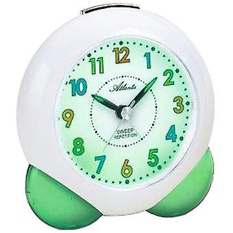 Атланта 1733/6 будильник для детей кварца детский будильник зеленый спокойно без тиканье