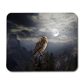 Halloween Owl Mouse Pad