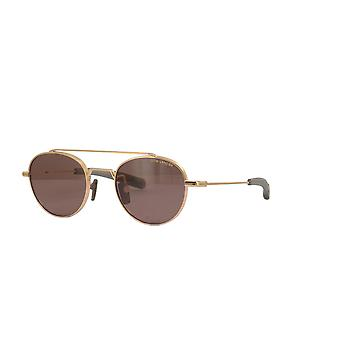 Dita Lancier DLS103 03 White Gold/Polarised Brown Glasses