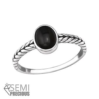 Braided - 925 Sterling Silver Jewelled Rings - W37503x
