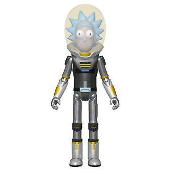Rick Morty Space Anzug Rick Metallic US Excl Action-Figur