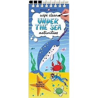 Essuyez les activités propres sous la mer