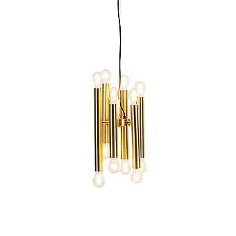QAZQA Art Deco Hängeleuchte 12 Gold - Facil